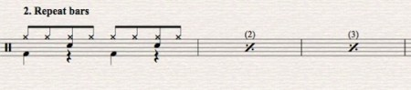 Sibelius Tutorial: Drum set notation-part 4 Repeat, Slash & Rhythmic
