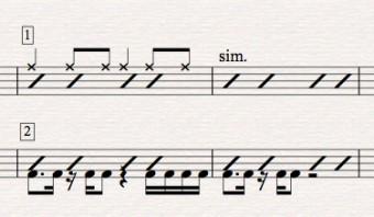 Sibelius Tutorial: Drum set notation-part 5-Combo & Cues