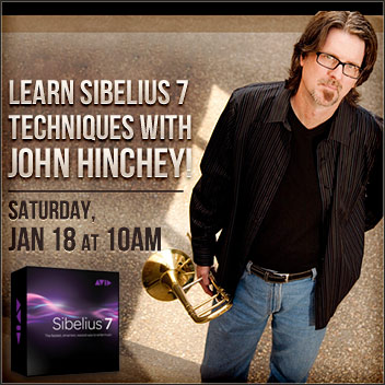 Sibelius 7 workshop at Sweetwater Jan. 18, 2014