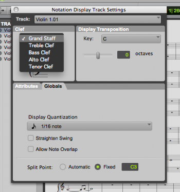 ProTools: Change Grand Staff to Single Staff in Score Editor